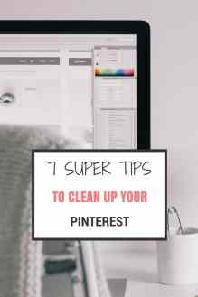 clean up pinterest