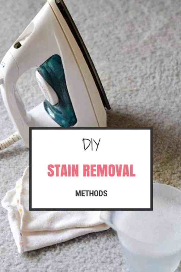 DIY Stain Removal Methods