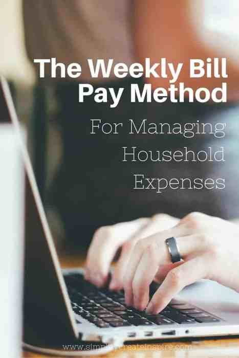 weekly bill pay method
