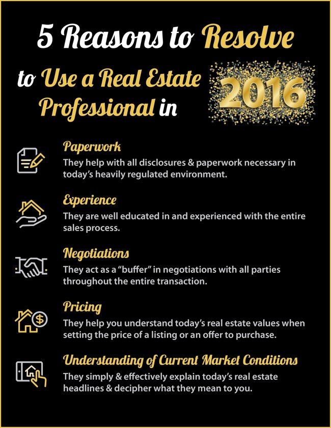 Resolve to Hire a Real Estate Professional in 2016 [INFOGRAPHIC] | Simplifying The Market