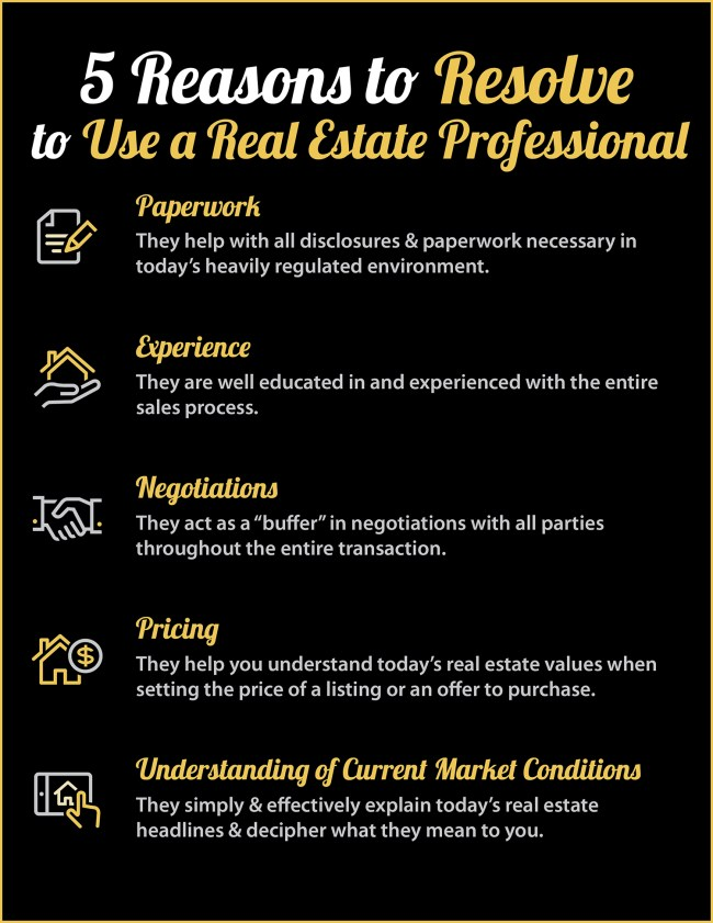 5 Reasons to Resolve to Hire a Real Estate Professional [INFOGRAPHIC] | Simplifying The Market