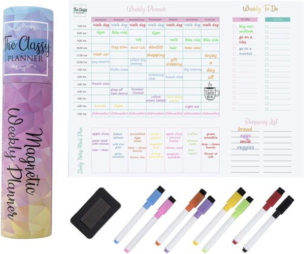 white board weekly planner