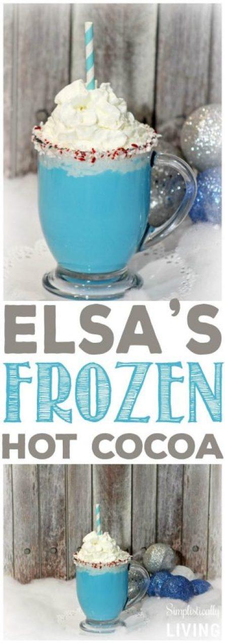 elsa frozen hot cocoa