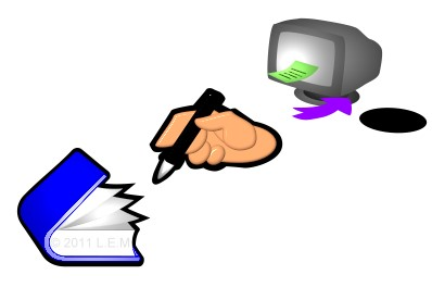 book hand monitor