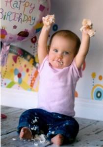 V Celebrating her first year