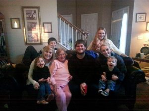 Nannie's last Christmas with all of her grand babies.