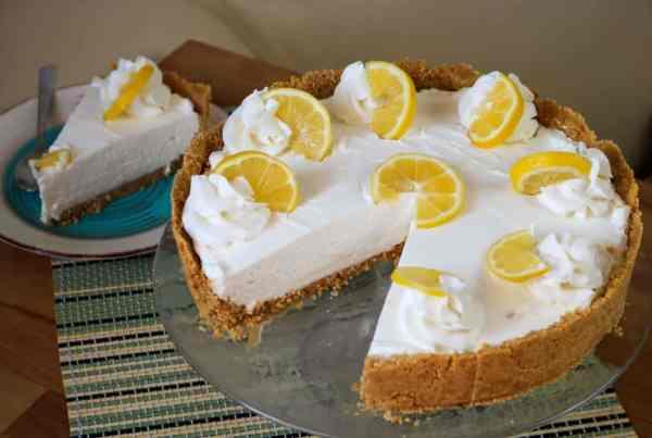 easy no bake CBD lemon cheesecake recipe