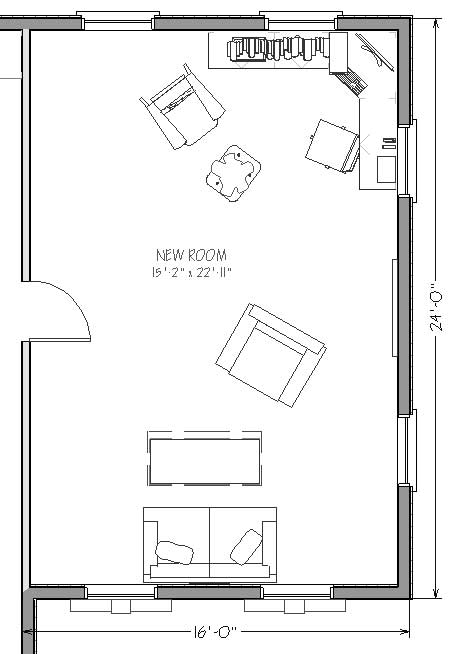 Garage bedroom conversion plans for 2 car garage addition plans