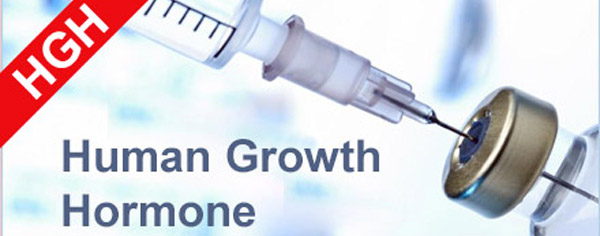 picture of a syringe loaded with human growth hormone