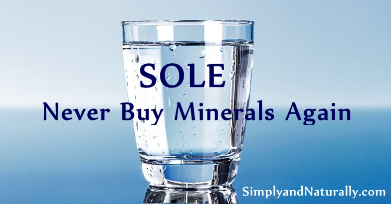 SOLE Himalayan Salt Water - Never Buy Minerals Again!