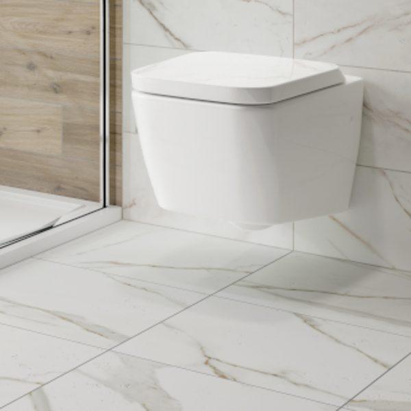 anguilla white marble matt wall floor tiles 500 x 500mm per box
