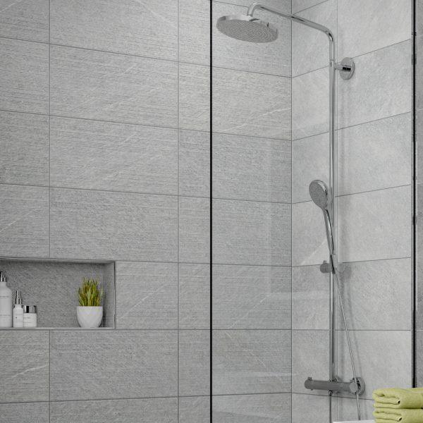 dominican grey decor wall bathroom tiles 250 x 500mm per box