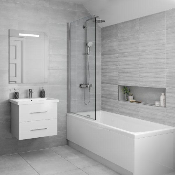grenada grey decor wall bathroom tiles 250 x 500mm per box