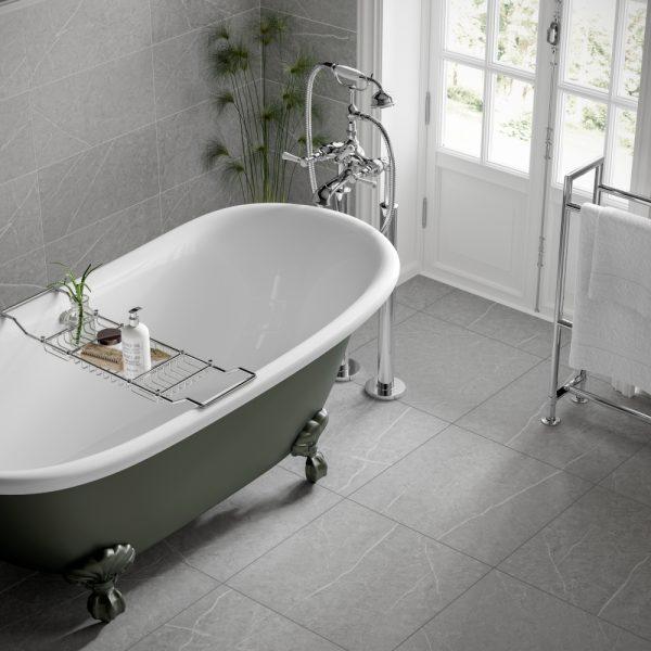 rico pearl grey wall floor bathroom tiles 500 x 500mm per box