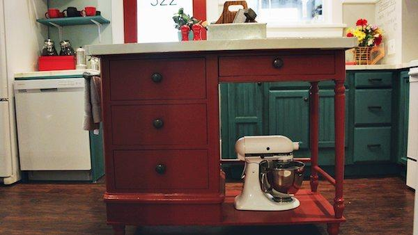 Island Kitchen Desk Turn