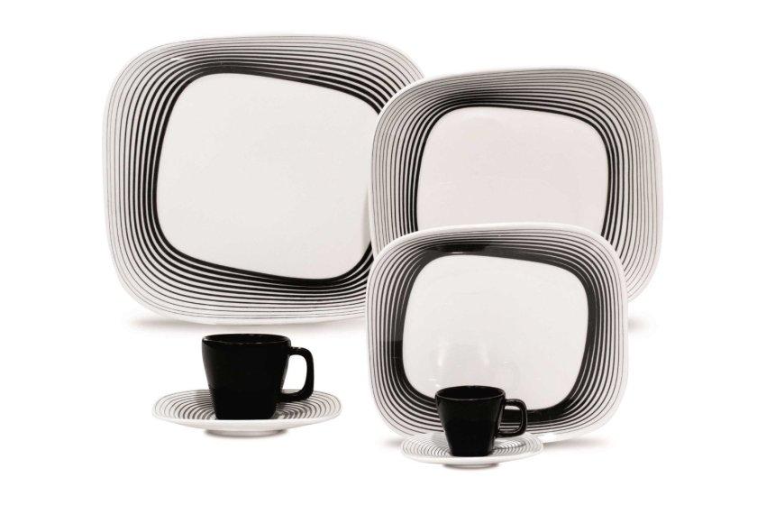 black white dinnerware sets