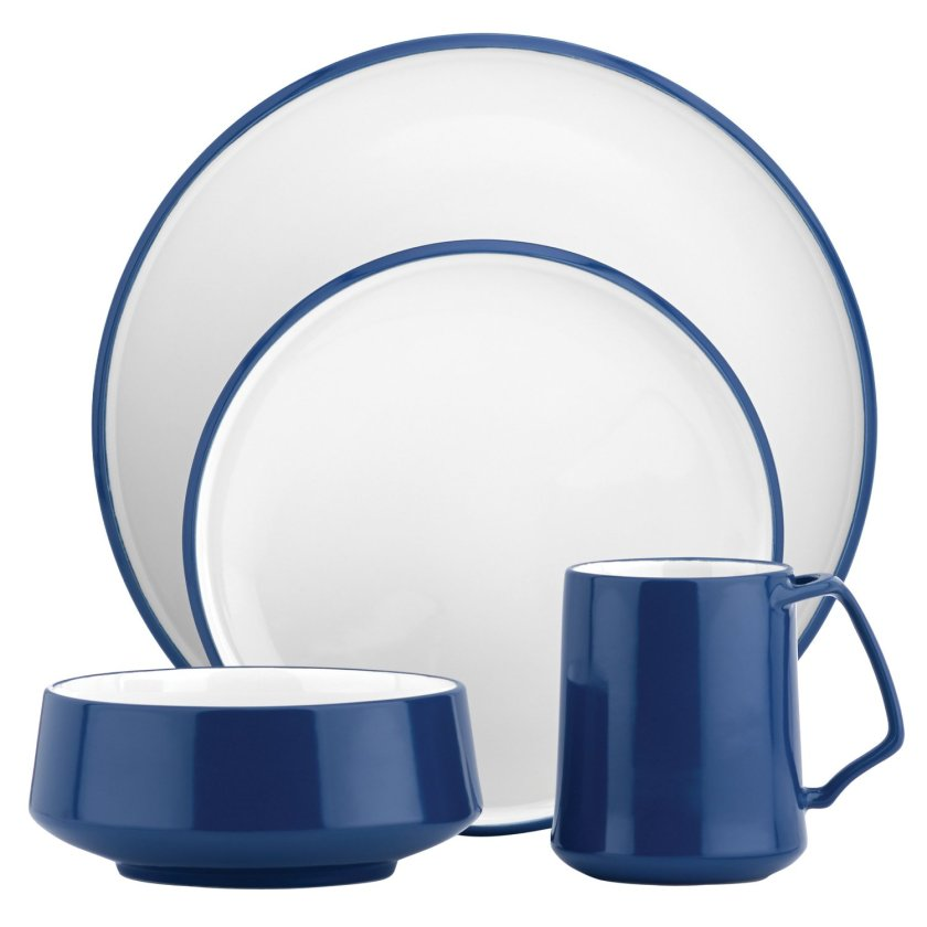 blue white dinnerware sets
