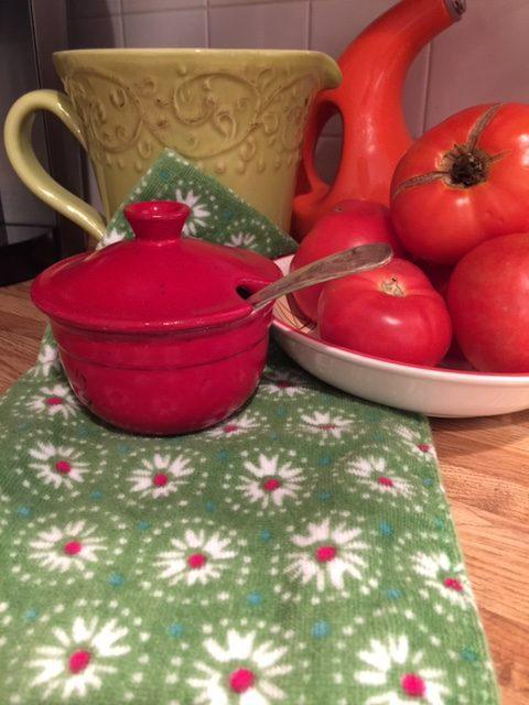 Green Flowered Pioneer Woman Dish Towels