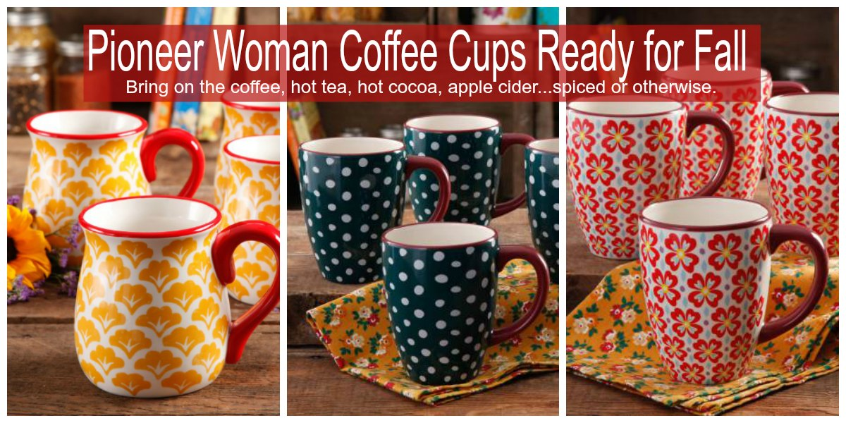 Pioneer Woman Coffee Cups Ready for Fall
