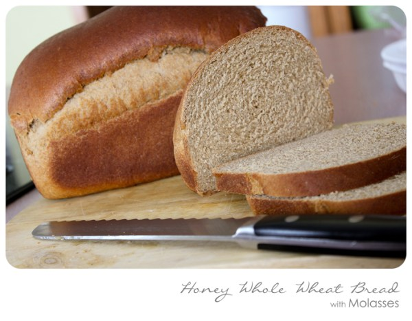 Honey Whole Wheat Bread with Molasses Simply Bloom