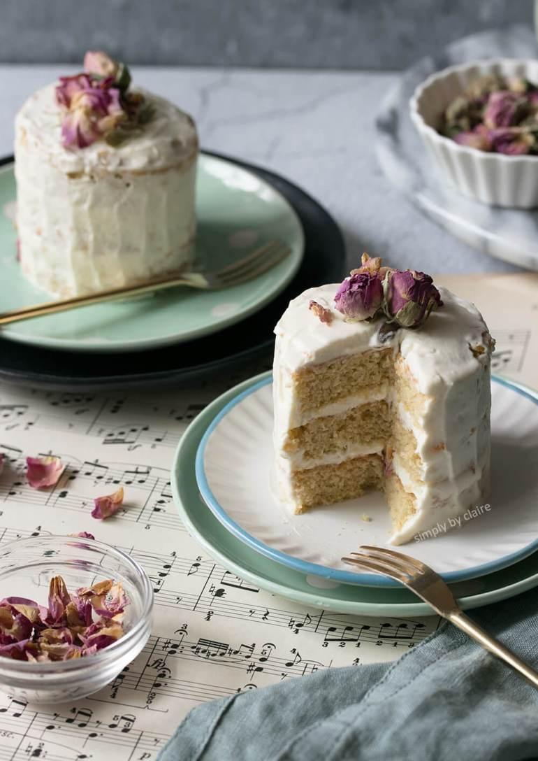 玫瑰半裸蛋糕-無麩質烘焙