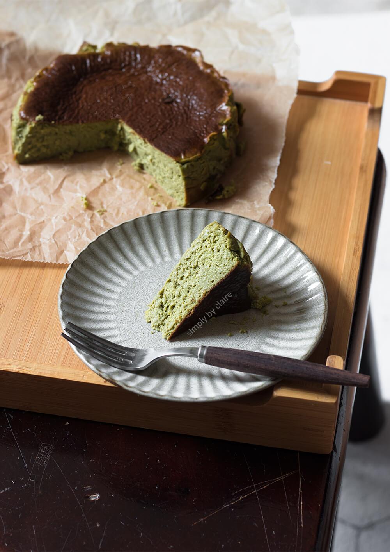 低醣版抹茶巴斯克乳酪蛋糕