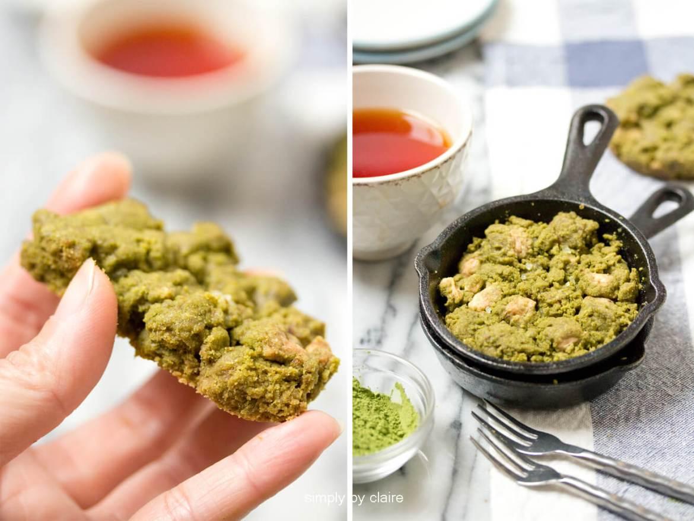 用迷你鑄鐵鍋作抹茶餅乾