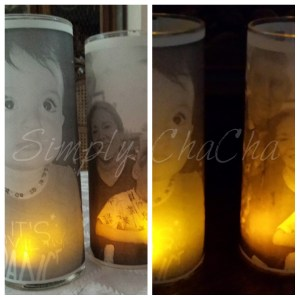 flameless picture candle finished product DIY