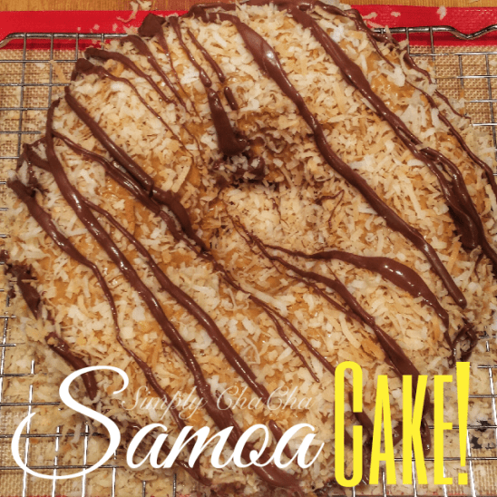 Girls scout Cookie Samoa Cake