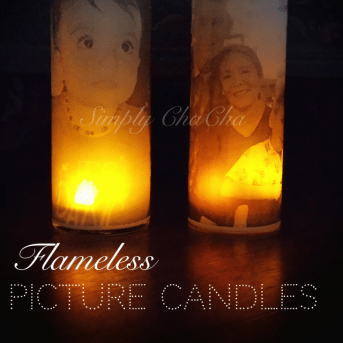 flame-less picture candle