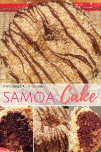 Girl Scout Cookie Samoa Cake!