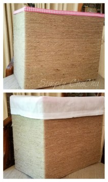 DIY SHABBY CHIC BOX MADE FROM DIAPER BOX OR WIPE BOX DIY Shabby Chic Storage Bins Using diaper & baby wipe boxes!