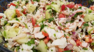 Simply ChaCha Shrimp & Crab Ceviche recipe Mix and incorporate well