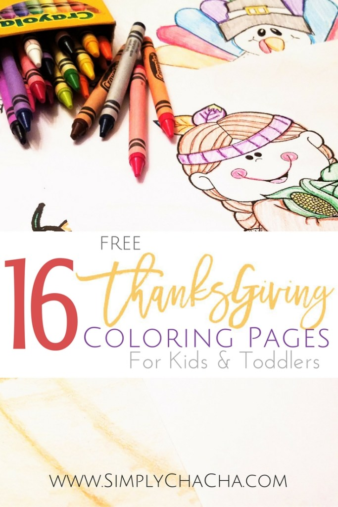 16 free Thanksgiving coloring pages for kids & toddlers