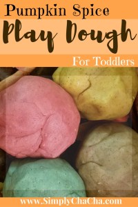Pumpkin Spice Play Dough For Toddlers