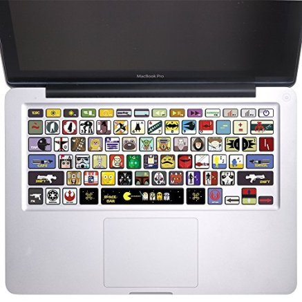 "Best Gift FOr Star Wars Fans - Star Wars - Keyboard Stickers Vinyl Decal MacBook Pro 13"", 15"" and MacBook Air 11"", 13"""