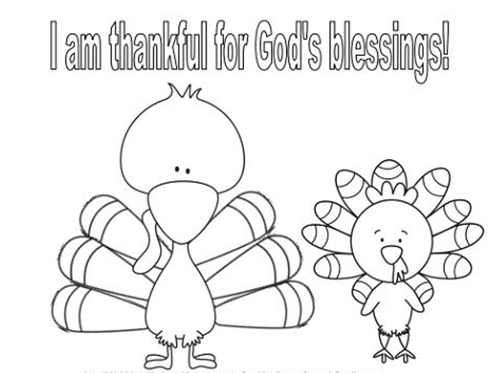 Turkey Thanksgiving Coloring Page For Kids Toddlers