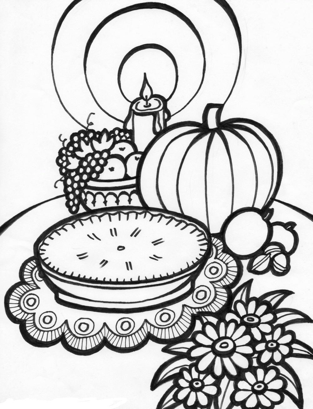 16 free thanksgiving coloring pages for kids toddlers for Free thanksgiving color pages