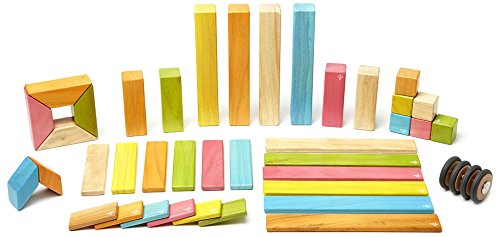 2016 HOLIDAY GIFT GUIDE STEM TOYS FOR TODDLERS: 42 Piece Tegu Magnetic Wooden Block Set, Tints