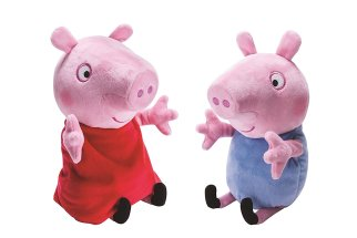 HOLIDA GIFT GUIDE 2016 HOTTEST TOYS AGES 2-4 PEPPA PIG - Peppa and George Giggle n' Wiggle Plush