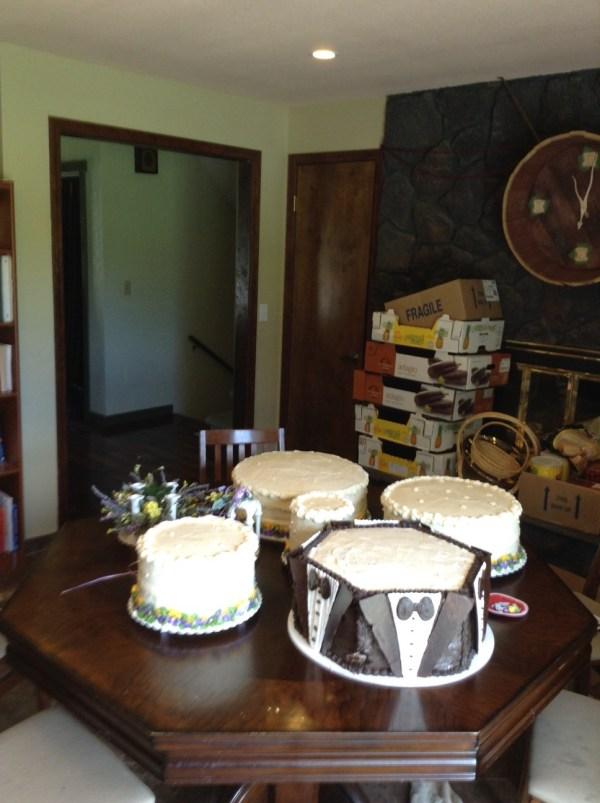 wedding cake disaster waiting to happen