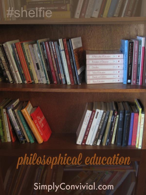 My philosophical education bookshelf