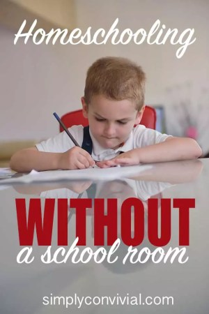 The thing about homeschooling without a schoolroom is that I don't want my house to look like we are a homeschooling household.