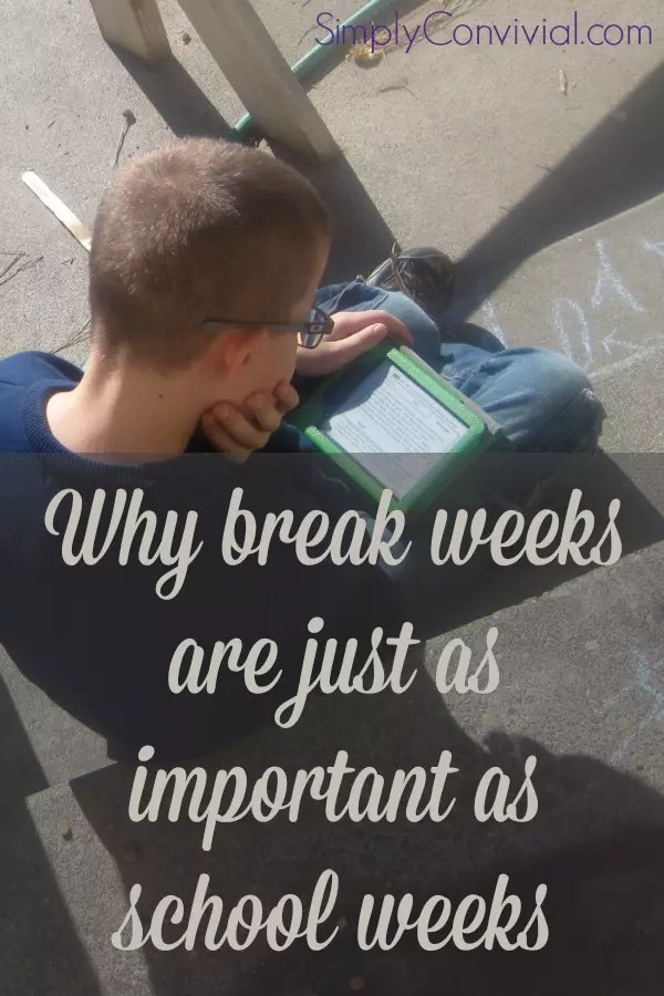 Why break weeks aren't wasted weeks - Simply Convivial ...