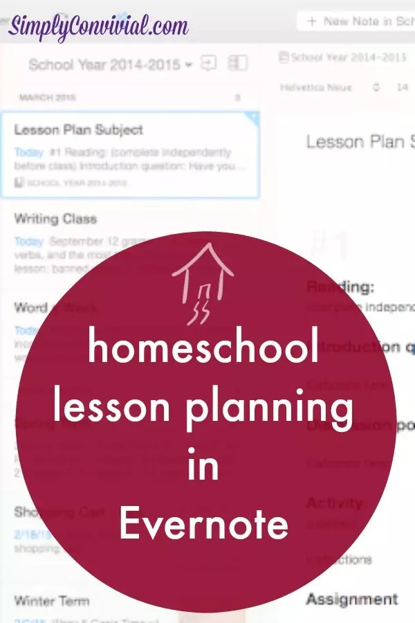 No matter how you make your homeschool lesson plans, they can be kept safely in Evernote.