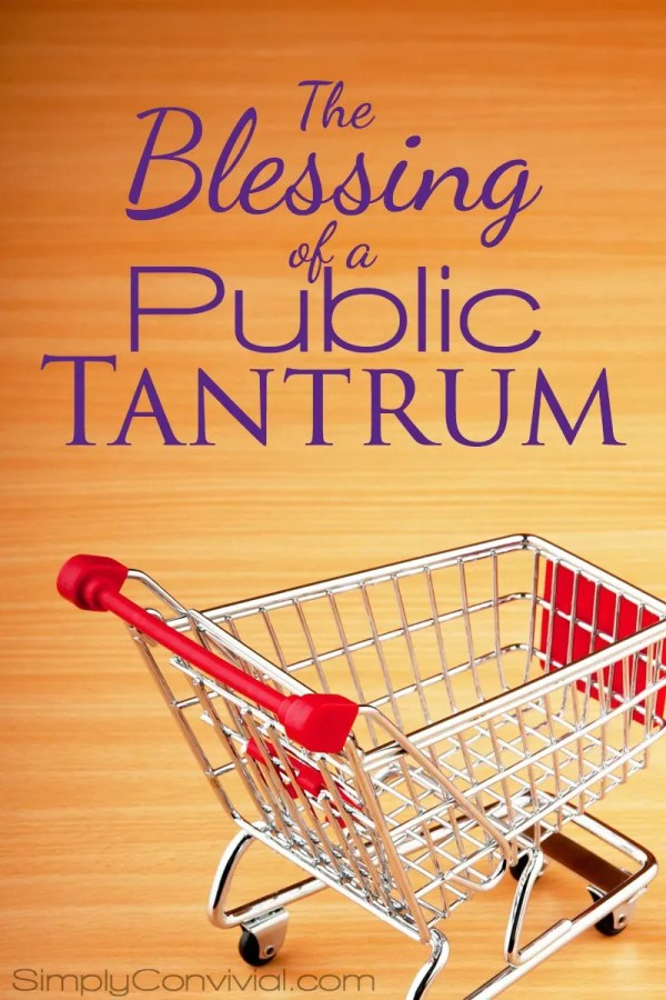 We can thank God when our toddler throws a tantrum in public. Read why it can be a blessing in disguise for us.
