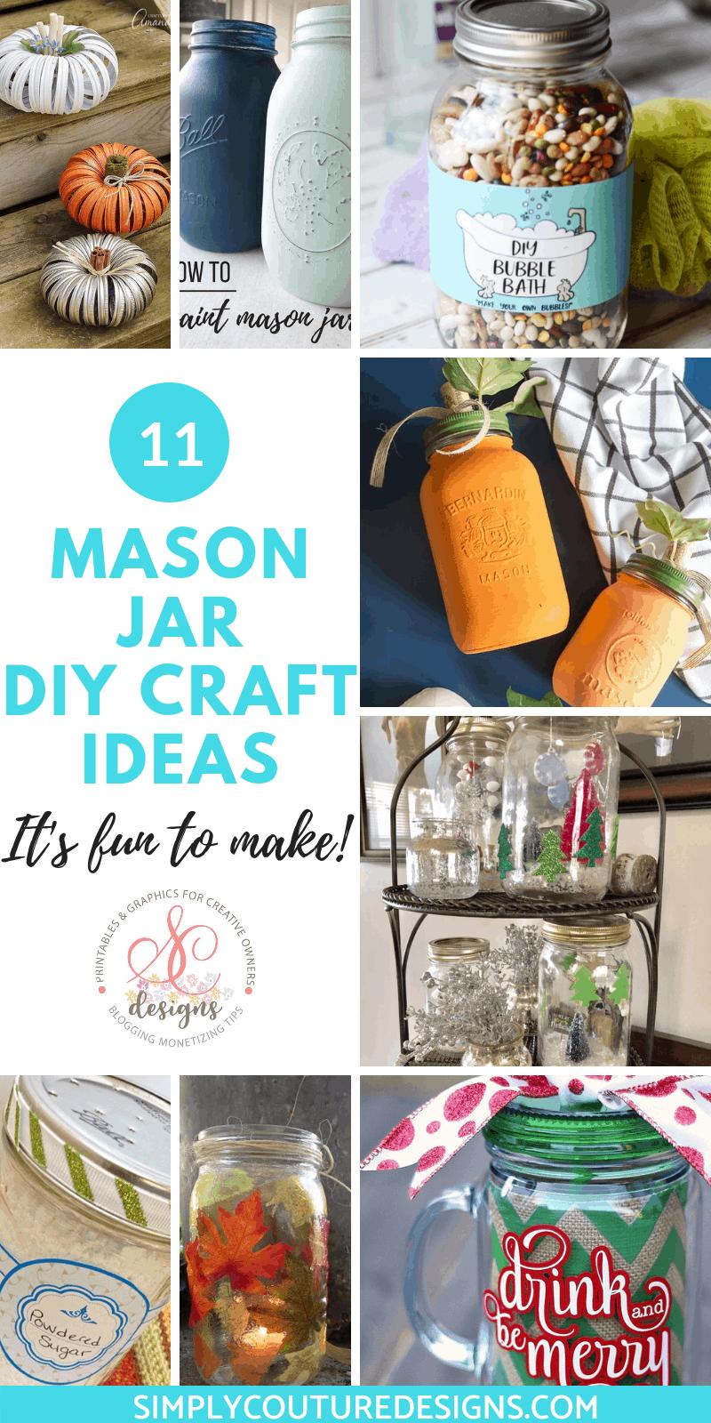 Mason Jar Diy Craft Ideas Simply Couture Designs
