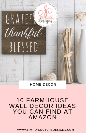 Farmhouse wall decor finds at Amazon. Look for farmhouse home decor item with fabulous prices? Check out these 10 great finds that you can buy at Amazon