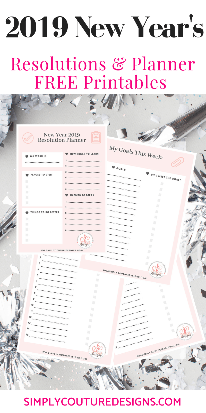 graphic relating to New Year Resolution Printable named No cost Fresh new Yrs Solution Printable - Easily Couture Styles