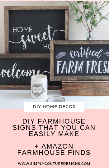 DIY Farmhouse signs that are easy to make. #diyfarmhousehomedecor #diyfarmhousesign #diyhomedecor #farmhousesigns #farmhousehomedecor